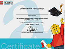 Certificado Oficial LEGO Education Academy