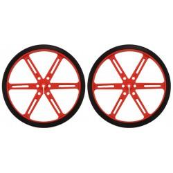 Ruedas de goma de 90 x 10 - color rojo (2 unidades)
