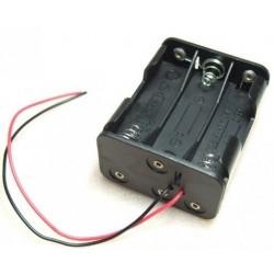 Portapilas 6xAA (R6) con cables