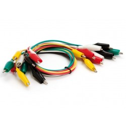 10 Cables con pinzas de cocodrilo de 45cm