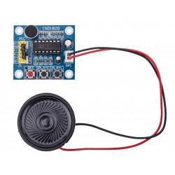 Módulo grabador reproductor de audio con altavoz ISD1820