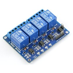 Módulo 4 canales Relé de potencia 5V