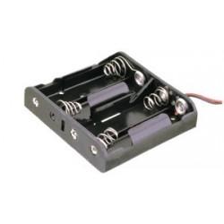 Portapilas 4xAA (R6) con cables