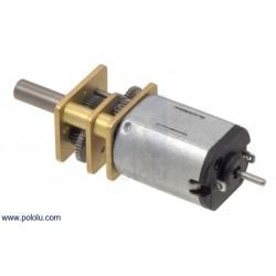 Micro motor DC 100:1 con reductora de engranajes metálicos y eje trasero extendido