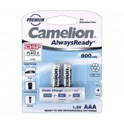 2 Baterías AAA 800 NiMh Camelion, Baja descarga