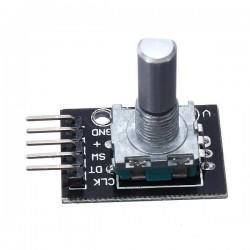 Encoder / potenciómetro circular + pulsador