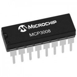 MCP30008 Conversor A/D SPI de 10bits y 8 canales