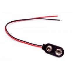 Portapilas clip 9V con cables
