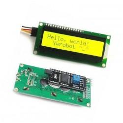 Pantalla LCD 16x2 I2C/Serie amarilla
