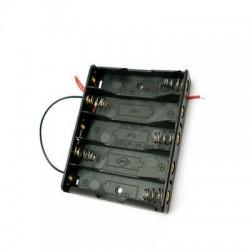 Portapilas 5xAA (R6) con cables