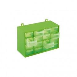 Caja clasificadora con 16 cajones