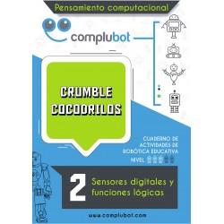 Crumble  cocodrilos II – Sensores digitales y funciones lógicas