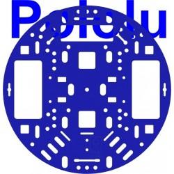 """Chasis Pololu de 5"""" color azul"""