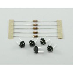 Pulsadores para protoboard