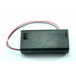 Portapilas 2xAA (R6) con interruptor