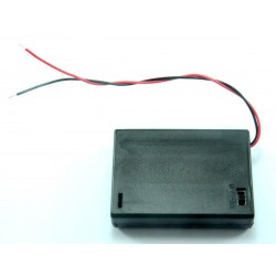 Portapilas 3xAA (R6) con interruptor