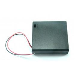 Portapilas 4xAA (R6) con interruptor