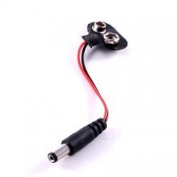 Portapilas clip 9V con conector para Arduino
