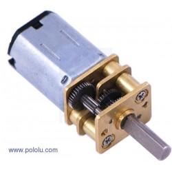 Micro motor DC 75:1 con reductora de engranajes metálicos