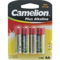 4 pilas alcalinas AA Camelion Plus
