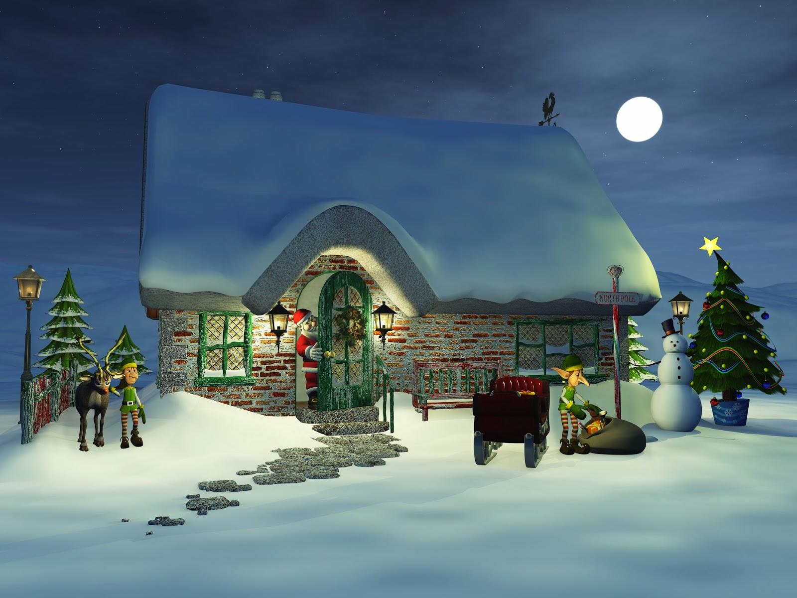 La-casa-de-Papa-Noel-en-el-Polo-Norte-en-3D